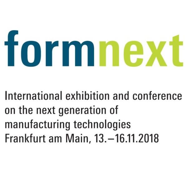 ------ formnext ------     vom 13.-16. 11. 2018 in Stuttgart